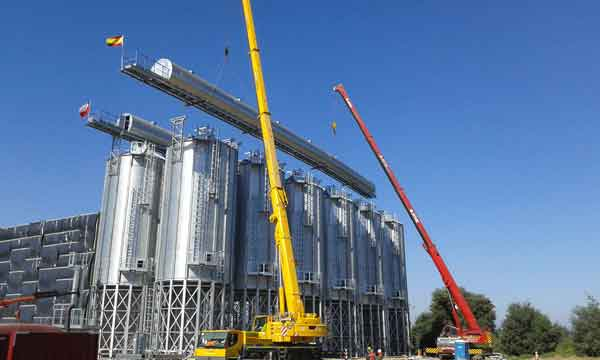 Silos for the storage of hazelnuts Chile