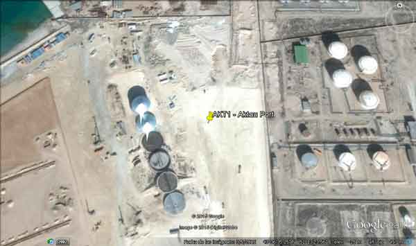 Aktau Grain Silos on Google Earth