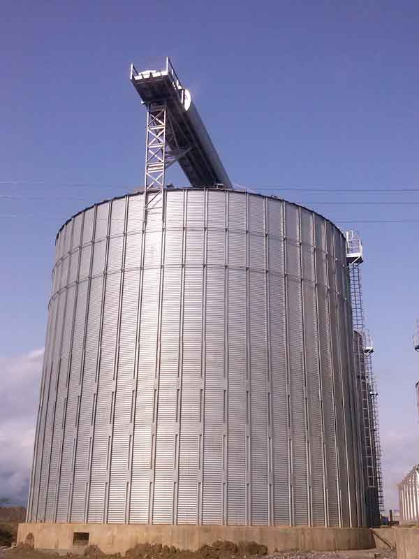 5 Flat bottom Silos for feed processing plant