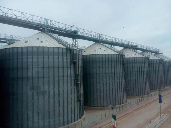 The Assembly of the First Phase of the Largest Grain Storage Facility in Iran is Completed