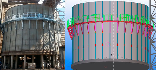 Creating an access for the internal maintenance of an old silo