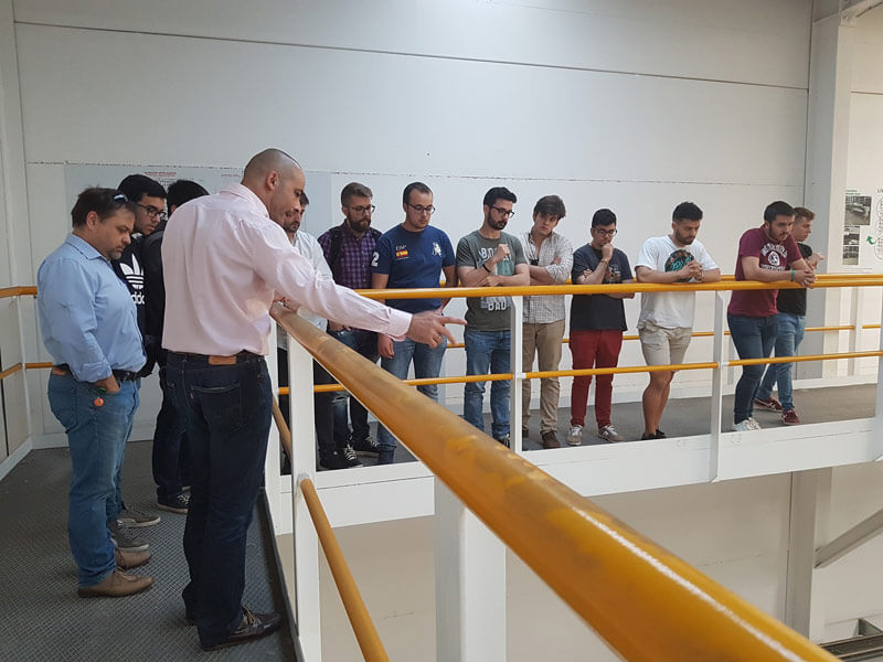 Students of the master's degree in Industrial Engineering from Córdoba University visited silos manufacturer Silos Córdoba