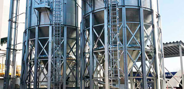 Storage silos for wood pellets in Poland