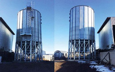Wheat and barley silo in Kazakhstan