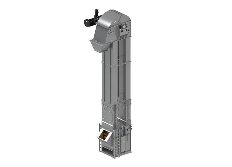 Redesign of the Heavy-Duty Bucket Elevator Optimised to Operate 24 Hours a Day