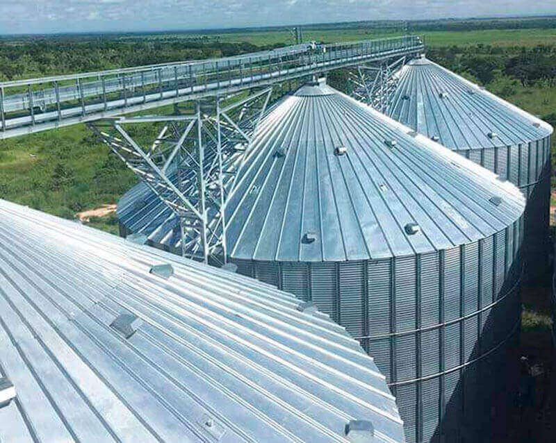 The assembly of the corn storage plant in Angola is ready