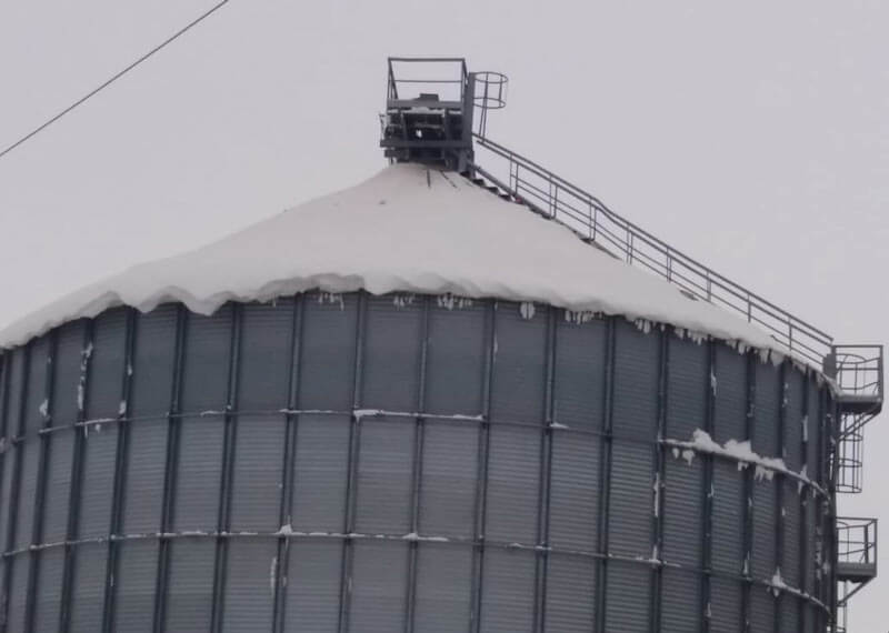 Silos designed to withstand snow loads: elements to be taken into account