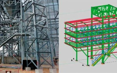 Steel structures for grain silos