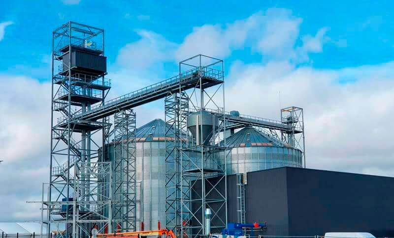 New facility for the storage and handling of pellets
