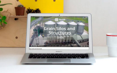 Time-lapse video shows the assembly of silos and their structures