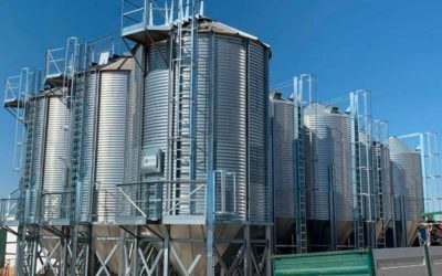 Installation of new silos in a Spanish feed mill