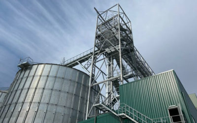 Steel structures for grain silos in a plant extension (Spain)