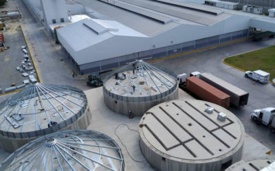 Assembly of a new grain storage system in Venezuela