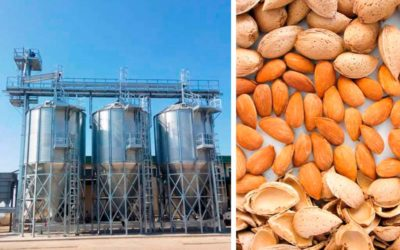 Advantages of almond drying and storage in silos