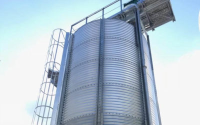 Silo designed for the storage of grape seeds to be used as biomass
