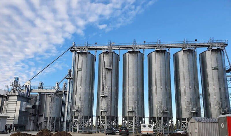 Rice silos in Hungary