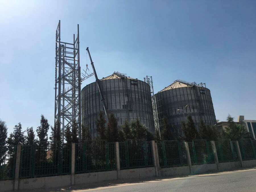 Cereal storage plant in Egypt